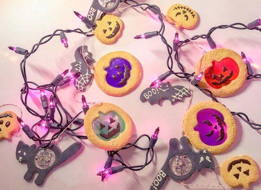 Clay & Resin Halloween Cookie Garland Tutorial