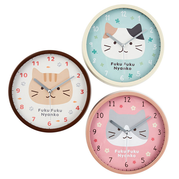 kawaii kitchen cats clocks