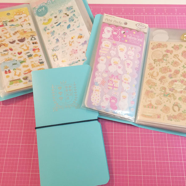 Kawaii Stationery Storage Ideas - sticker sheets