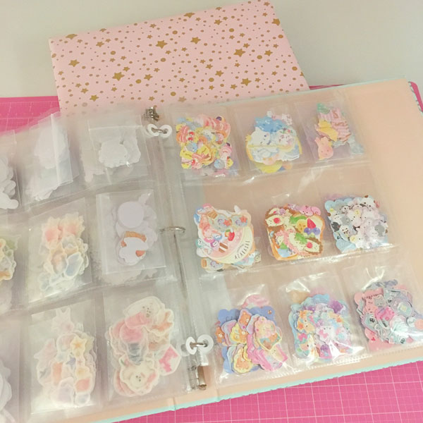 Kawaii Stationery Storage Ideas - Sticker Flakes