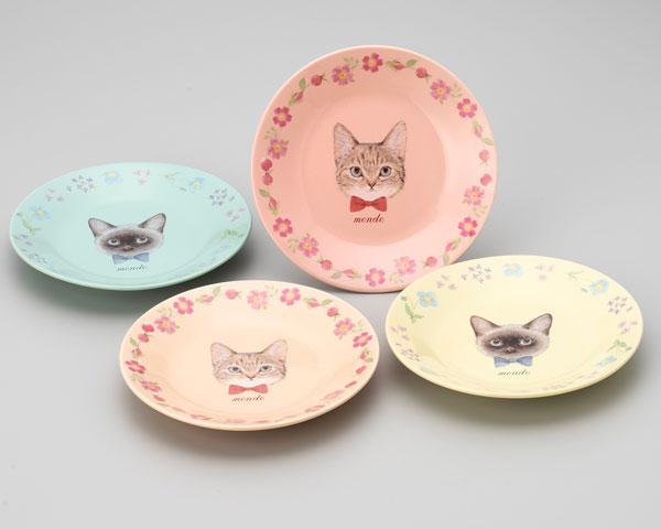 miki takei cat plates
