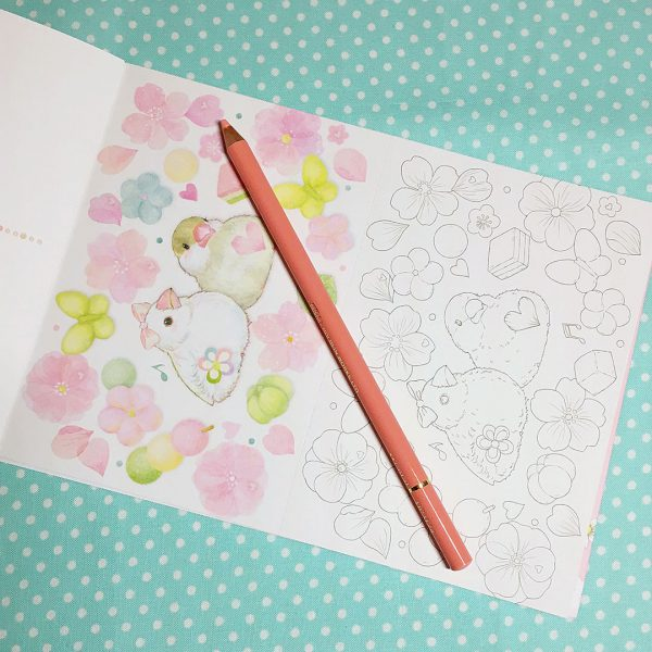Miki Takei Dream of Colors Postcard Coloring Book