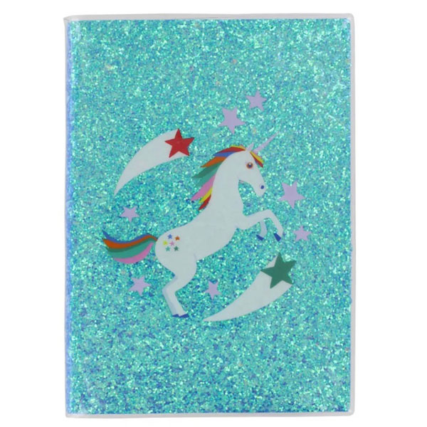 unicorn glitter notebook