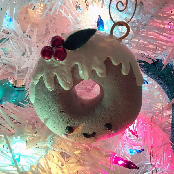 DIY Kawaii Christmas Donut Ornament