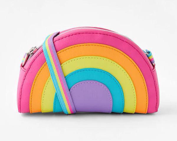 rainbow pochette bag