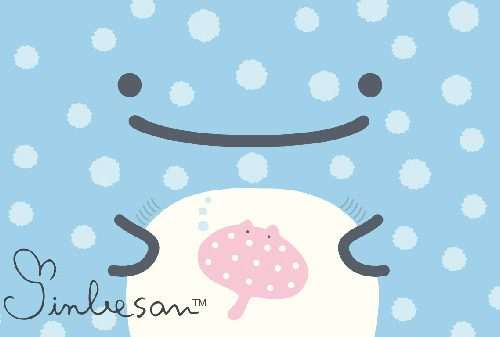 Jinbe San kawaii whale shark free wallpaper