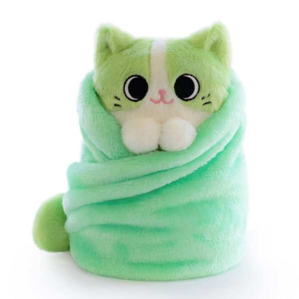 cat burrito kawaii plush
