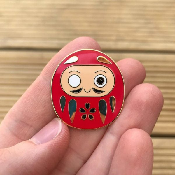 Cute Daruma enamel pin