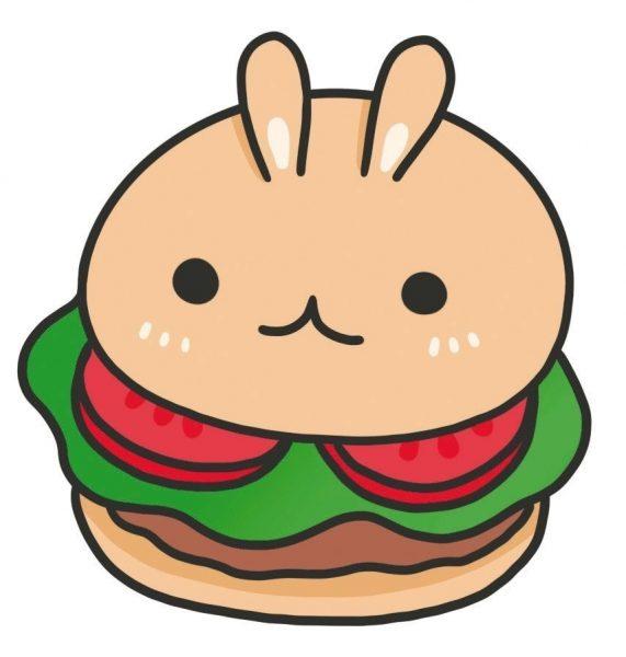 Kawaii Hamburger doodle