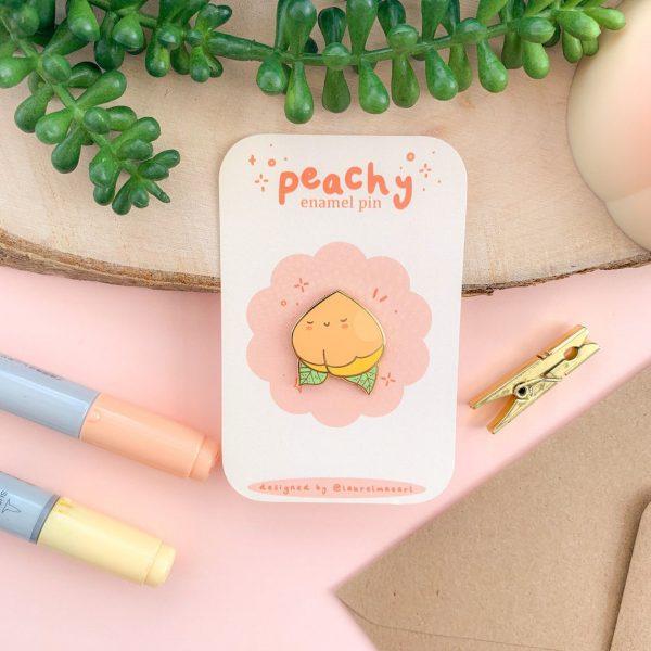 Kawaii Peaches enamel pins