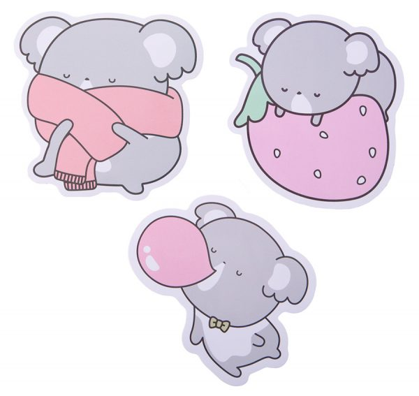 Luna Koala kawaii stickers