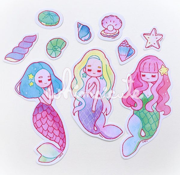 Cute Mermaid stickers