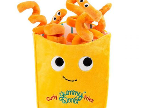 Yummy World curly fries kawaii plush
