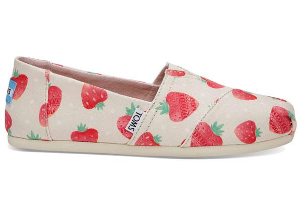 kawaii strawberry shoes