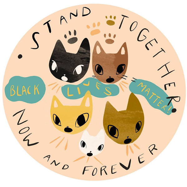 Black Lives Matter kawaii sticker