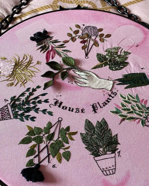 plant embroidery