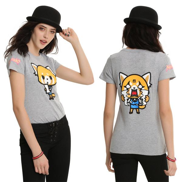 Aggretsuko red panda kawaii t-shirt