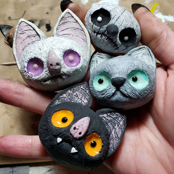 creepy cute clay artists
