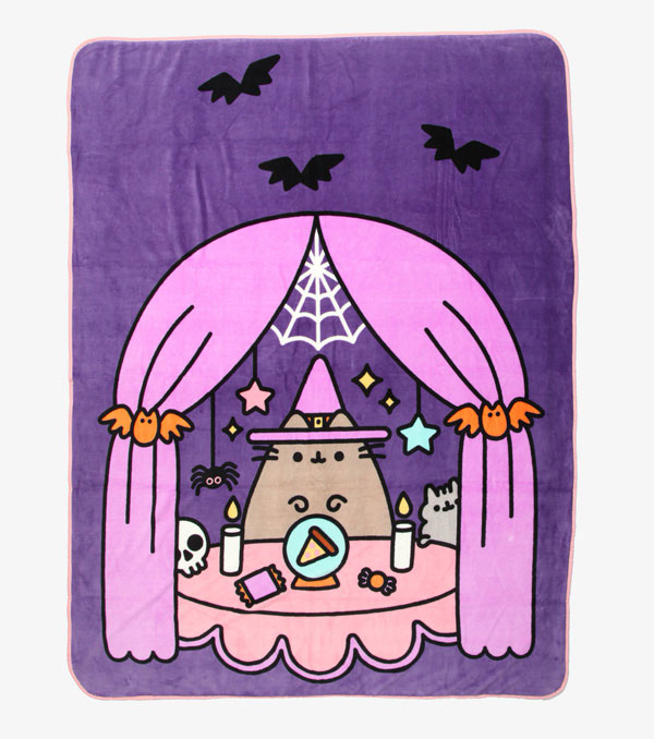 kawaii halloween pusheen blanket