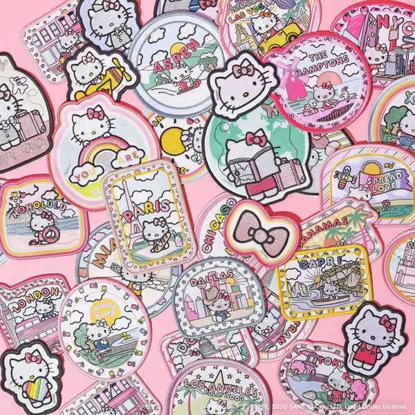 hello kitty kawaii travel patches