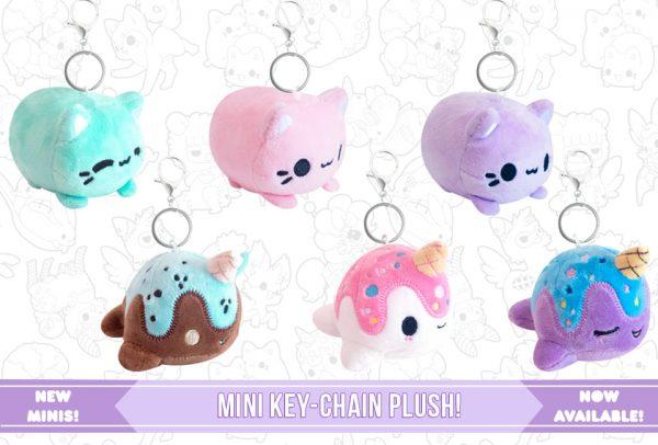 kawaii mini plush keychains