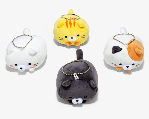 kawaii cat plush keychains