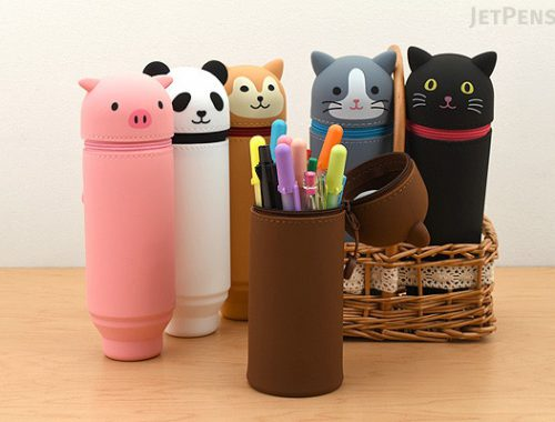 kawaii stationery - animal pencil cases
