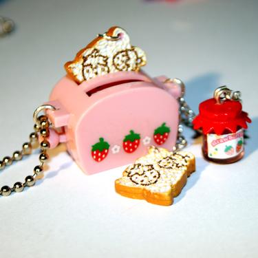 en.dawanda.com/product/8892370-Kawaii-Miniature-Strawberry-Toaster-Necklace-With