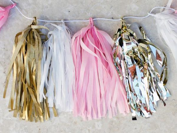 kawaii birthday DIY tassels