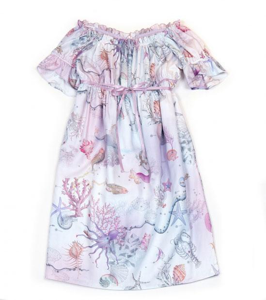 Japanese Lolita fashion sea creatures pastel dress