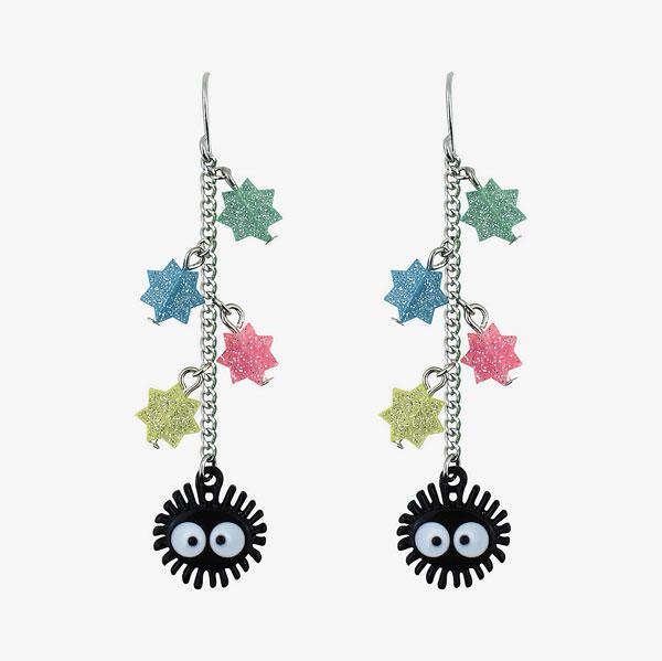 kawaii earrings - studio ghibli