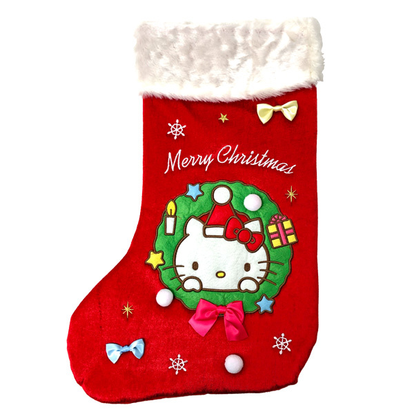 Kawaii Christmas decorations - Hello Kitty stocking