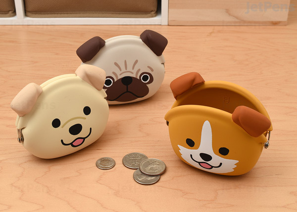 kawaii dog coin purses