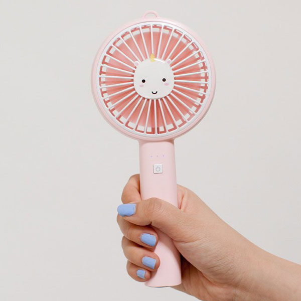 Kawaii Unicorns portable fan