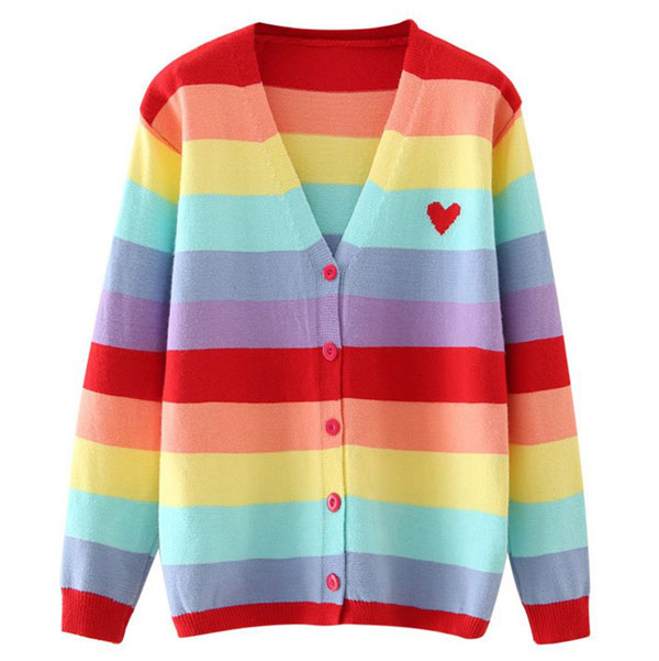 rainbow cardigans
