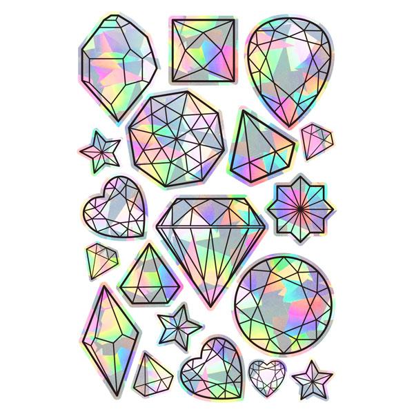 gems rainbow kawaii suncatchers
