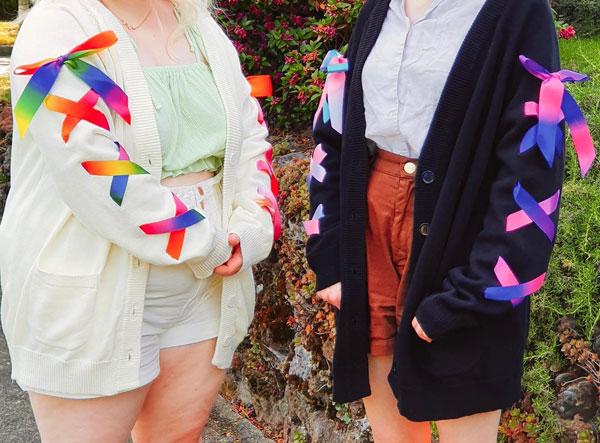 Pride Flags ribbon cardigans