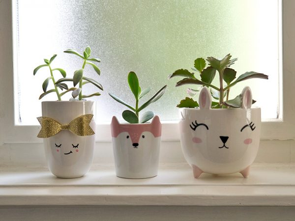 kawaii mugs and planters