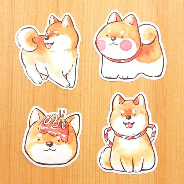shiba inu kawaii dog stickers