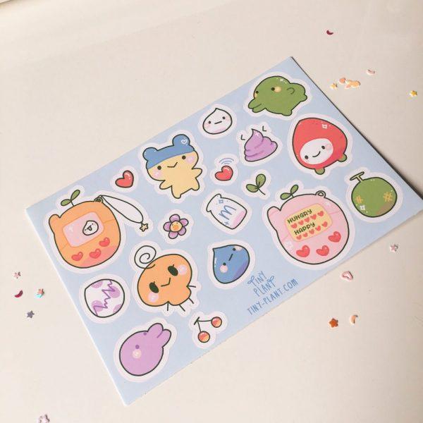Tamagotchi sticker sheet