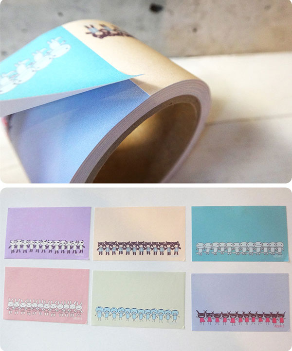 kawaii stationery - roll of labels