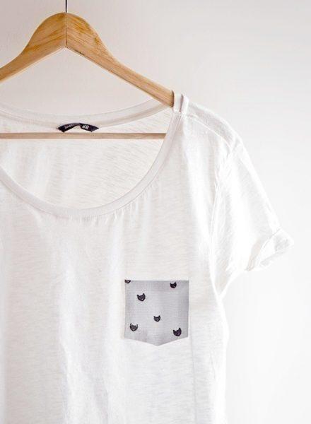 No-Sew Fabric DIY - pocket t-shirt