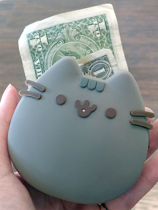 pusheen silicon coin purse