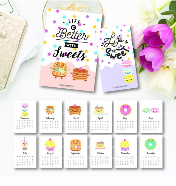 Cute Calendar Printables  Super Cute Kawaii