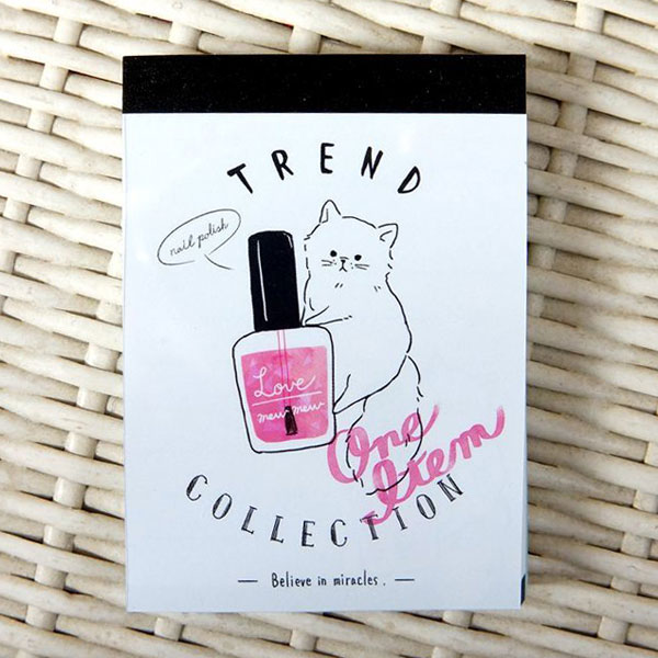 kawaii stationery cat memo pad