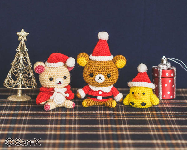 Kawaii Christmas amigurumi crochet patterns - Rilakkuma