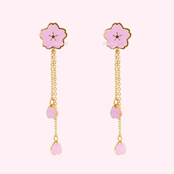 sakura kawaii earrings