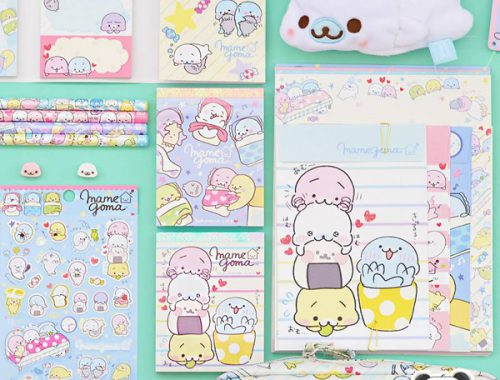 kawaii mamegoma stationery
