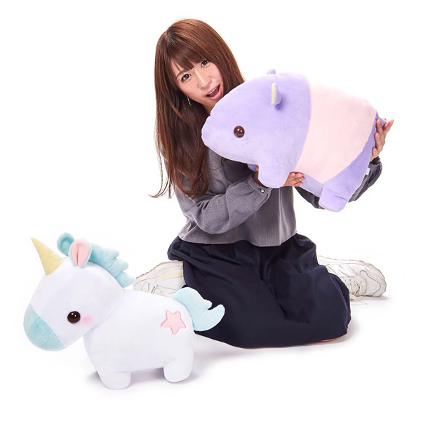 Kawaii Amuse plushies - pastel unicorn tapir