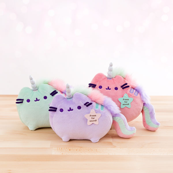 pusheenicorn musical plush toy